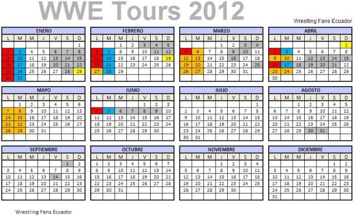 WWE Tours 2012