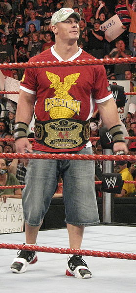 John Cena at a live event on Monday Night Raw in Richmond, Virginia 2008. Photo By: Dash.