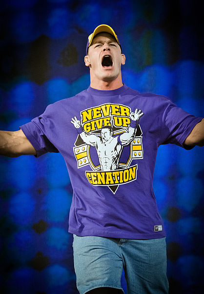 ohn Cena at WWE's Tribute to the Troops event on December 11, 2010 in Fort Hood, Texas. Photo By: Alexander Vaughn.