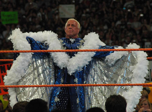 Ric Flair at WrestleMania 24. Photo By: The Badder in The World.