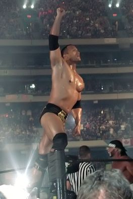 The Rock at WrestleMania X8. Skydome, Toronto, ON, March 17 2002. Photo By: MShake3.