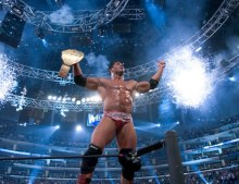 Batista at Wrestlemania 21. Photo By: Feedback/ Wikipedia.org
