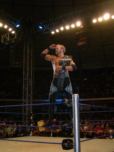 ECW Champion Christian en el WWE SD/ECW Tour 2010 en Ecuador. Foto: Wrestling Fans Ecuador