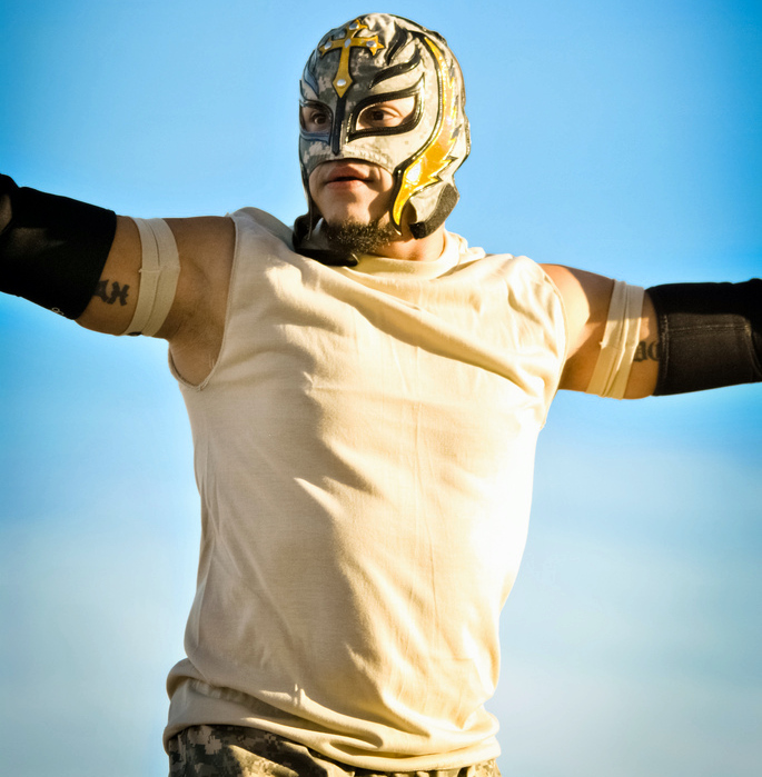 Rey Mysterio at the WWE: Tribute to the Troops 2010. Photo by: Alexander Vaughn