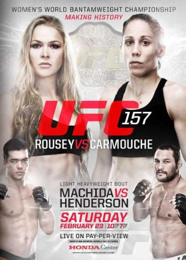 This is the official event poster for UFC 157. UFC.com