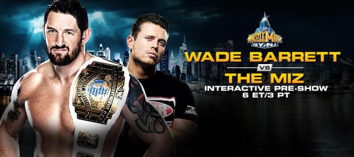 Wade Barrett vs The Miz WM 29