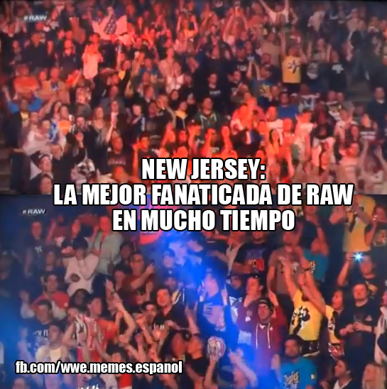 Fans presentes en Monday night Raw