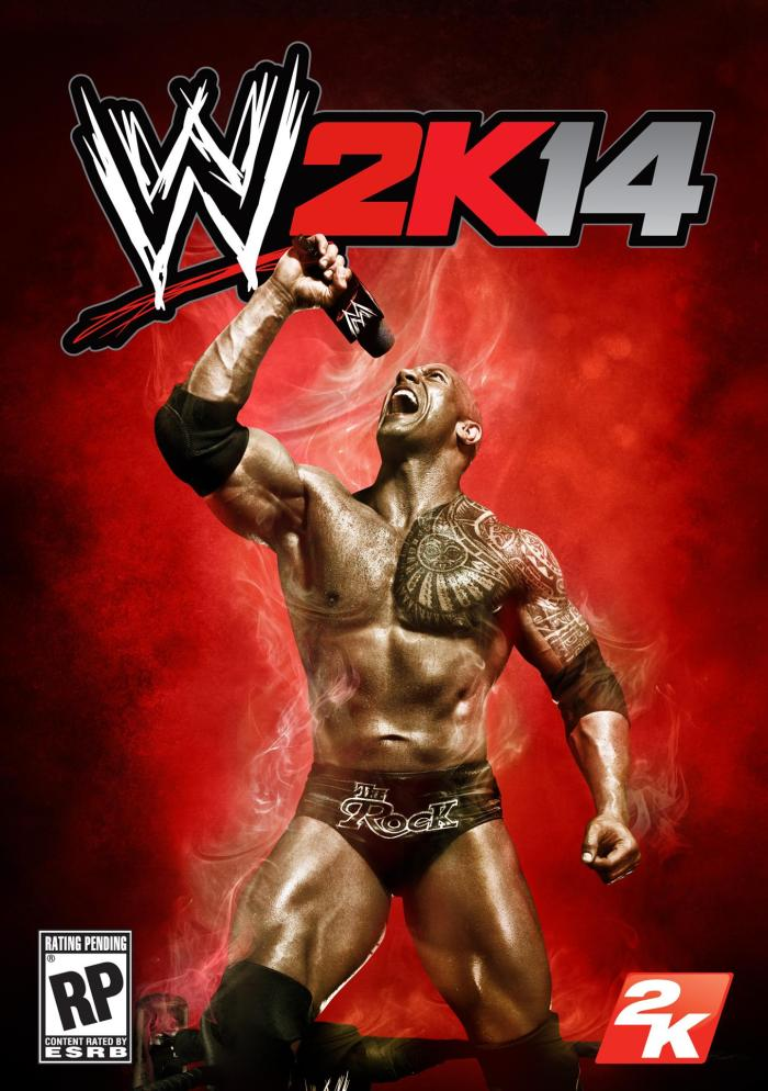 WWE 2k14 cover - The Rock