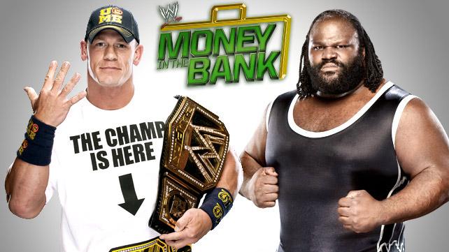 John Cena (c) vs. Mark Henry por el Campeonato WWE - Money In The Bank - wwe.com