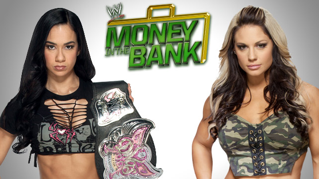 AJ Lee (c) vs. Kaitlyn por el Campeonato Divas - Money In The Bank - wwe.com