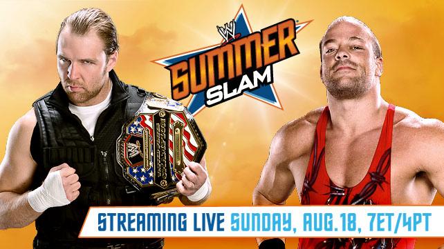 Dean Ambrose (c) vs RVD por el Campeonato USA en Summerslam 2013 - www.wwe.com