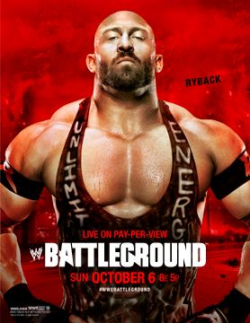 WWE Battleground 2013 poster - Promotional poster featuring Ryback