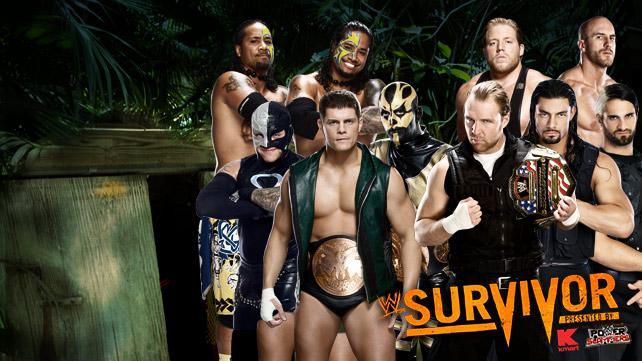 Equipos de la traidional batalla por eliminacion en Survivor Series 2013